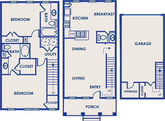 1,460 sq. ft. 22A floor plan
