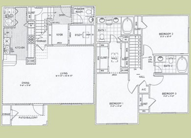 1,570 sq. ft. Palmero floor plan