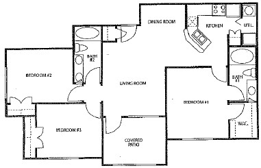 1,085 sq. ft. 60% floor plan
