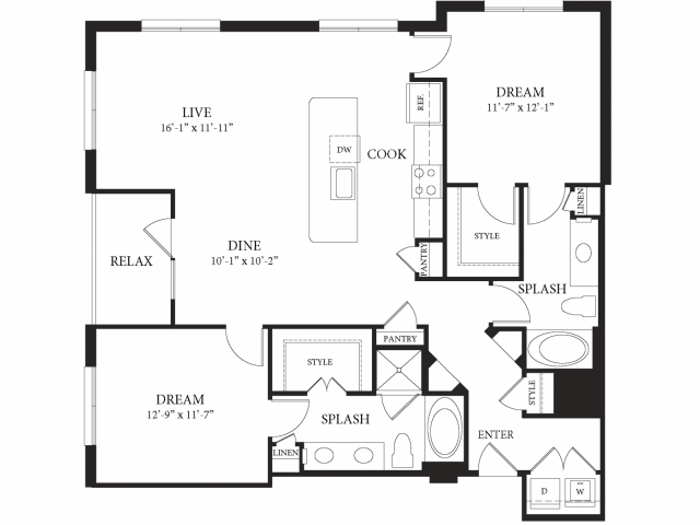 1,317 sq. ft. Royale floor plan