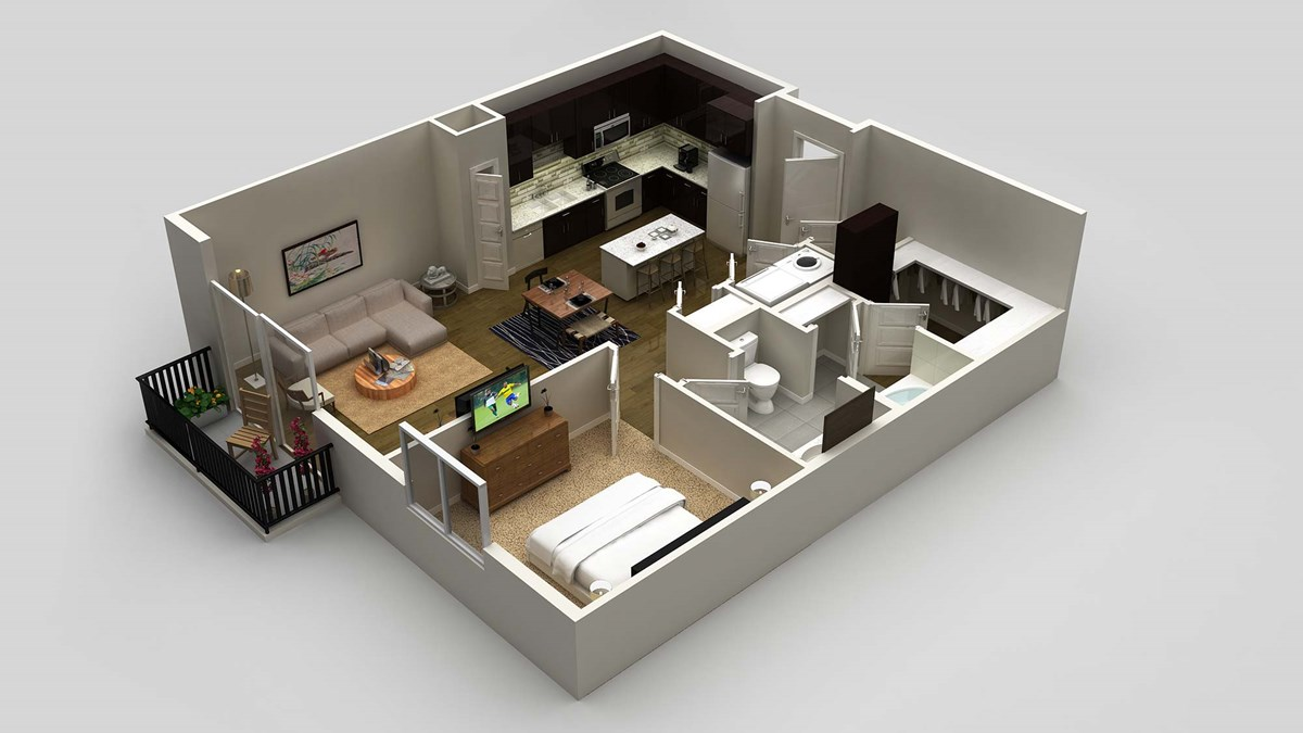 828 sq. ft. floor plan