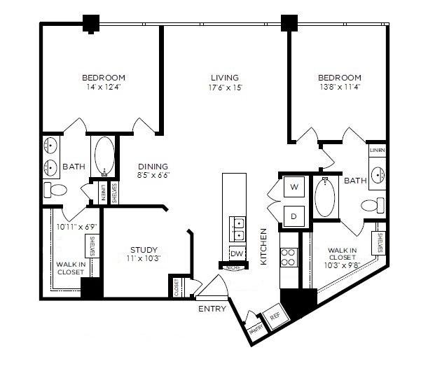 1,429 sq. ft. Oxford floor plan