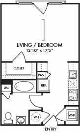 504 sq. ft. Trinidad floor plan