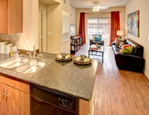Living/Kitchen at Listing #140541