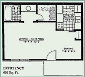456 sq. ft. floor plan
