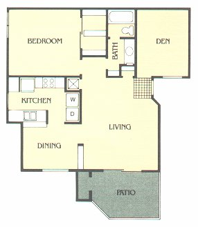 965 sq. ft. D floor plan