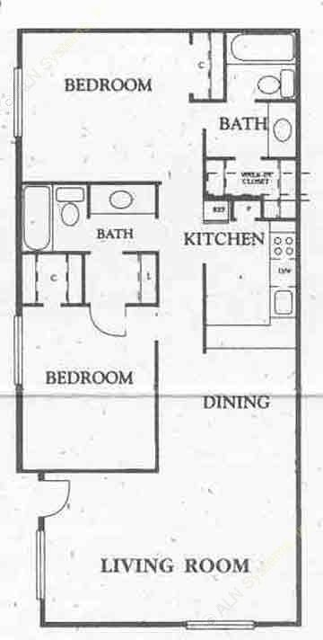 946 sq. ft. w/Electric floor plan