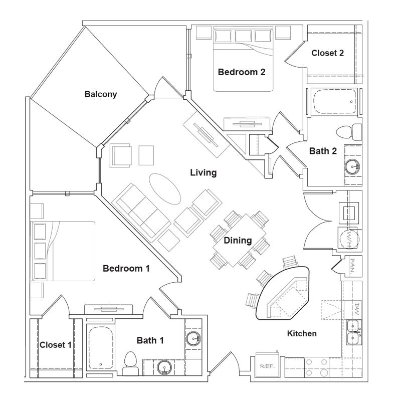 1,137 sq. ft. Terlingua floor plan