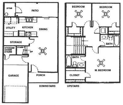 1,548 sq. ft. E floor plan