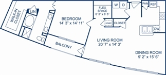 1,244 sq. ft. Syracuse floor plan