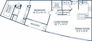1,244 sq. ft. Syracuse floor plan