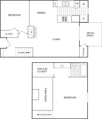 920 sq. ft. FLAT floor plan