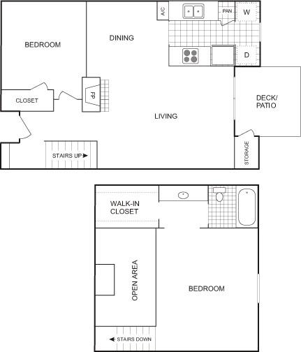 920 sq. ft. Flat floor plan