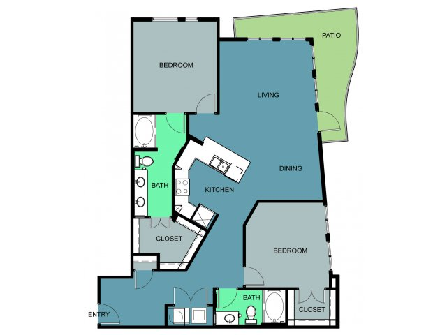 1,373 sq. ft. Thistle Hill floor plan