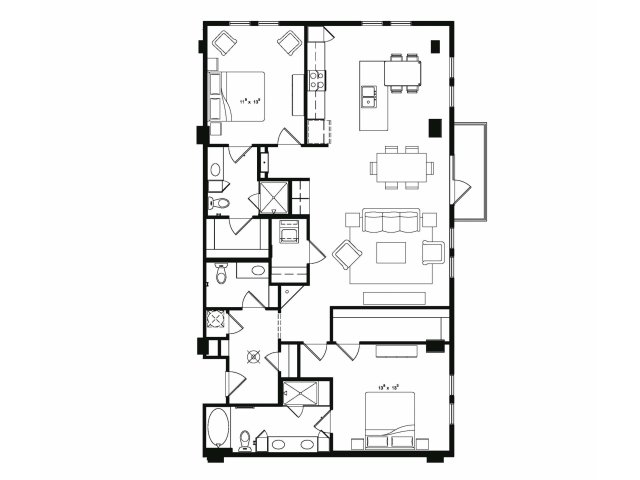 1,616 sq. ft. B6 floor plan