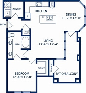 853 sq. ft. Elm floor plan