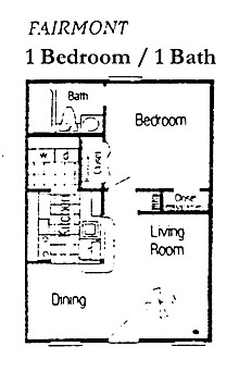 502 sq. ft. A1 floor plan