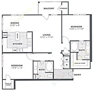 1,216 sq. ft. Alder floor plan