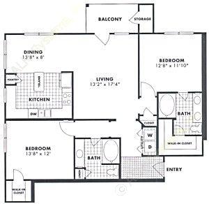 1,216 sq. ft. Alder floor plan
