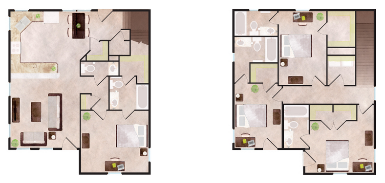 2,220 sq. ft. Vail floor plan