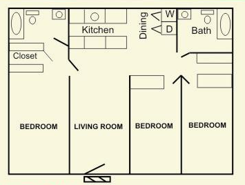 1,275 sq. ft. floor plan