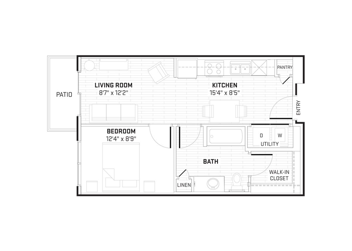 555 sq. ft. floor plan