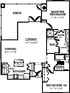 1,410 sq. ft. DOBIE-F/G floor plan