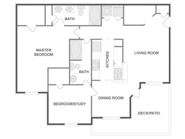 1,099 sq. ft. STEAMBOAT floor plan