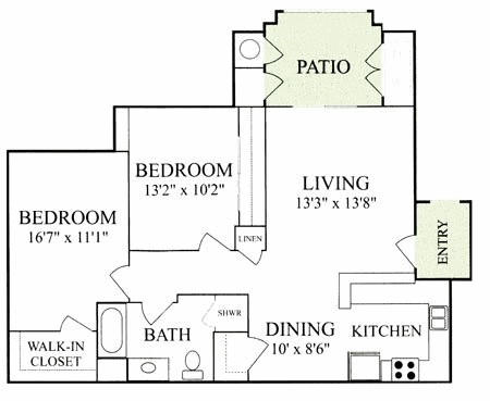 1,000 sq. ft. Mkt floor plan