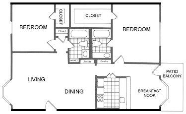 1,120 sq. ft. Frisco floor plan