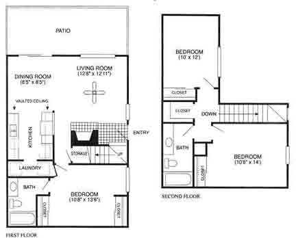 1,155 sq. ft. Broadmoor/C1TH floor plan