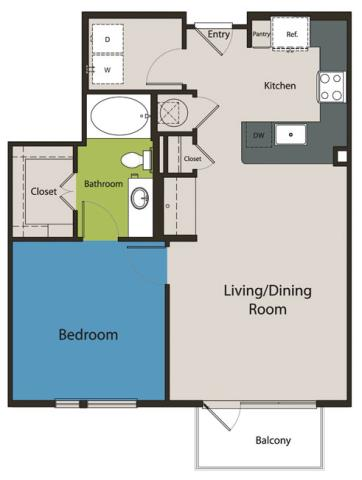 772 sq. ft. A4.1 floor plan