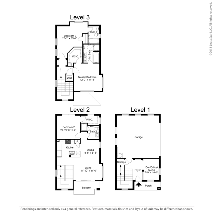1,461 sq. ft. C1A floor plan