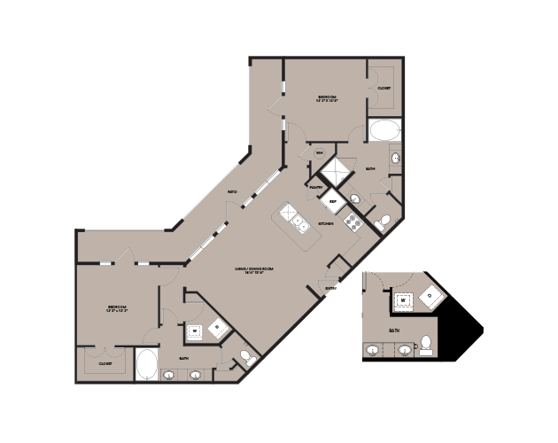 1,287 sq. ft. B4.2 floor plan