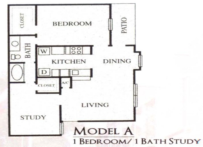 816 sq. ft. A floor plan