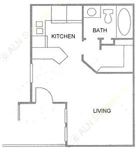 416 sq. ft. floor plan