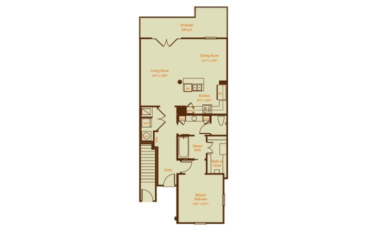 1,271 sq. ft. Palacio floor plan