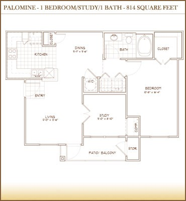 814 sq. ft. Palomino floor plan