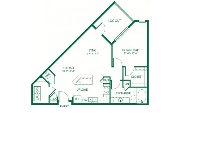 785 sq. ft. A3 Frequency floor plan