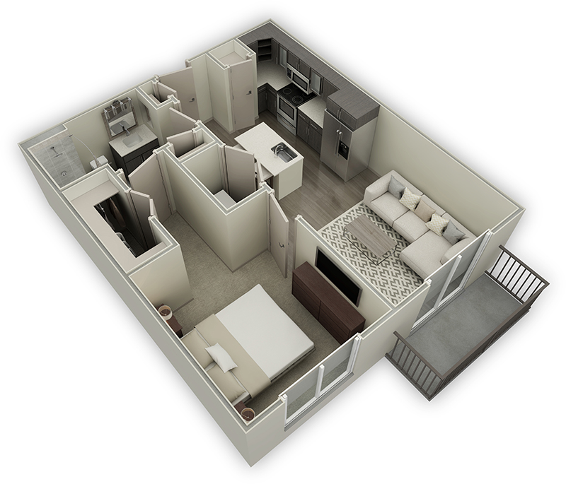 720 sq. ft. A1.1 floor plan