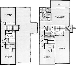1,167 sq. ft. Sun/50% floor plan