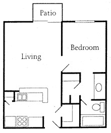 732 sq. ft. floor plan