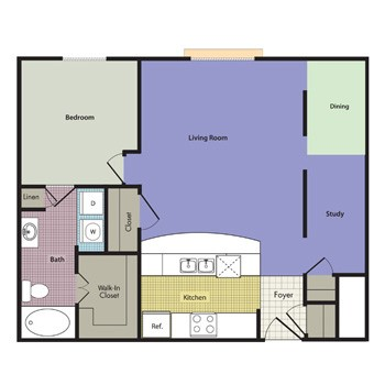 967 sq. ft. CHAMBORD floor plan