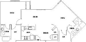 985 sq. ft. DOVER floor plan