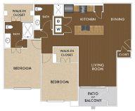 1,119 sq. ft. Lennon floor plan