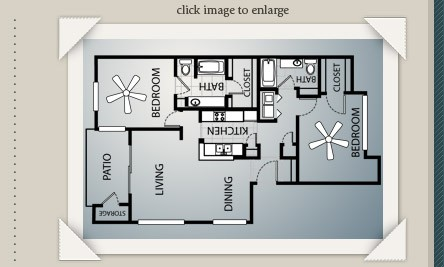1,137 sq. ft. to 1,198 sq. ft. B3/B3E floor plan
