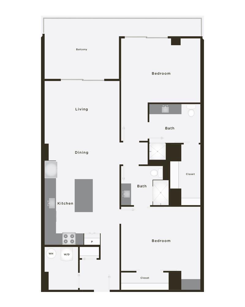 1,329 sq. ft. Dynasty floor plan