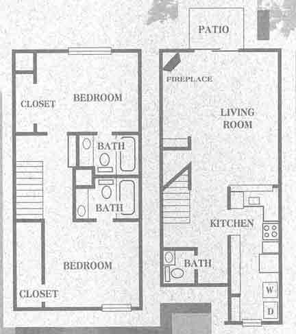 1,338 sq. ft. Evergreen floor plan