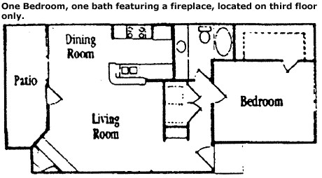 734 sq. ft. Pine floor plan
