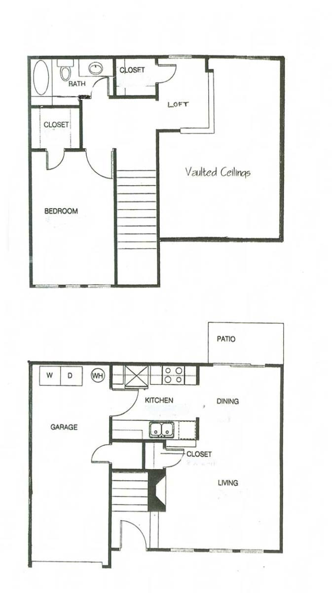 981 sq. ft. A1 floor plan